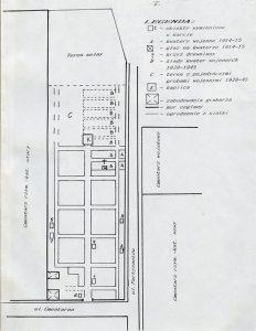 Plan Cmentarza ewangelicko-augsburskiego